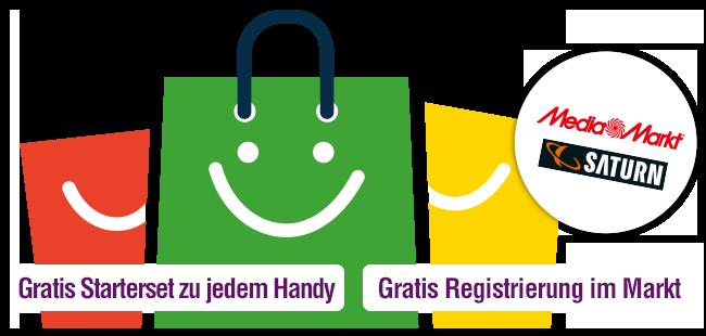 Gratis Georg Starterset zu jedem Handy und Gratis Registrierung in jedem Markt.